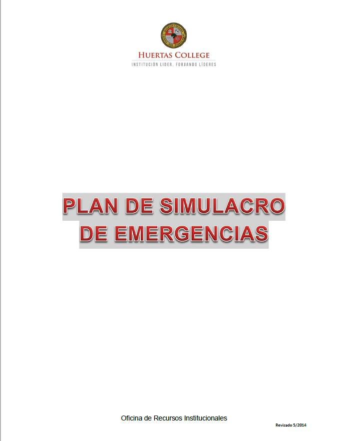 Plan de Simulacro de Emergencias
