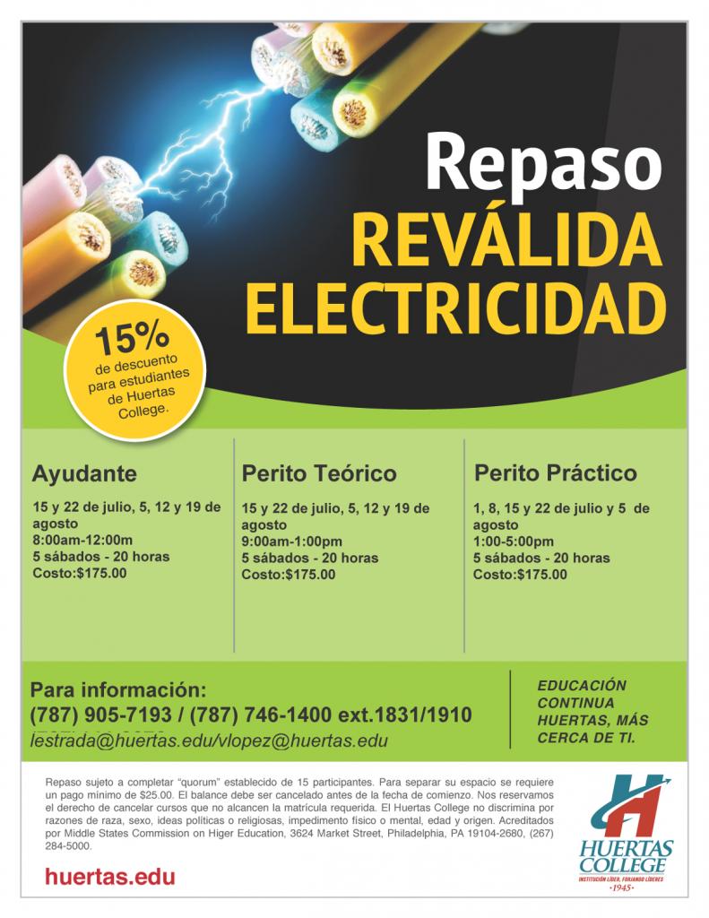 Repaso Reválida Electricidad